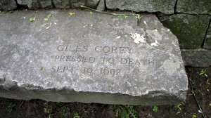 Giles Corey - Accused Salem Witch - Memorial